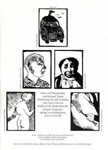 """advertentie """"Kafka in de onderwereld"""""""